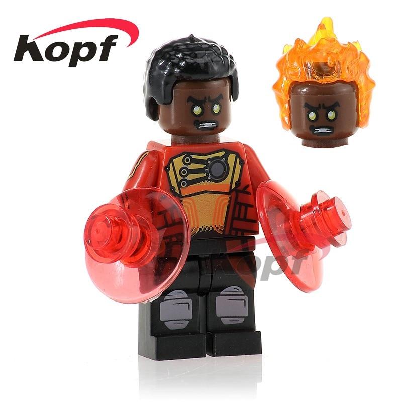 PG276 Super Heroes Firestorm Malcolm Merlyn Booster Cold Green Lantern Building Blocks Action Figures Model Children Toys Gift