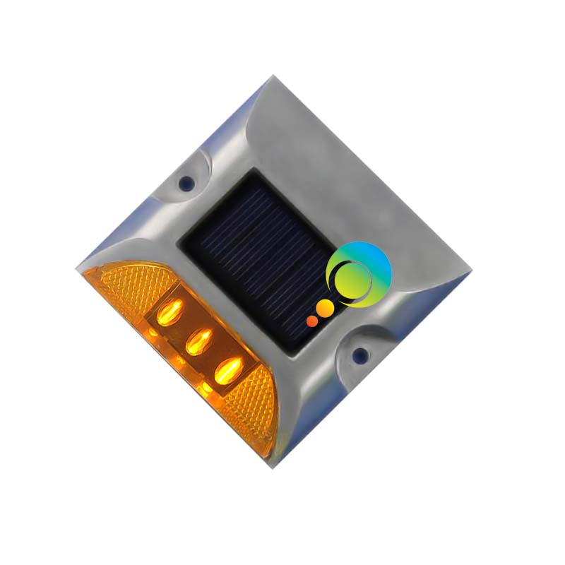 High quality aluminum 3M reflector yellow LED one side solar panel road stud reflector