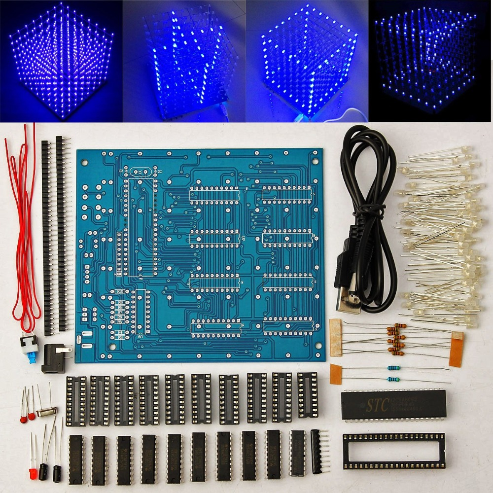 Accessories & Parts Dac Leory 1pc 16x16 268 Led 3d Led Light Cube Kit Music Spectrum Electronic Kit With Remote Control Welding Auxiliary Plate Diy A Wide Selection Of Colours And Designs