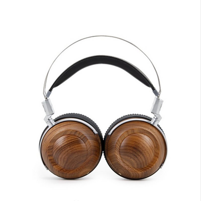 Big Pads Wooden Metal Headphone Clear Sound Headset With Beryllium Alloy 50MM Driver And protein Leather