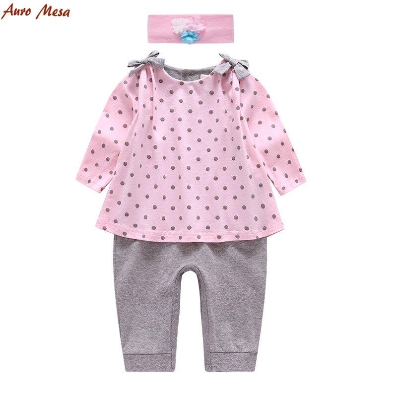 795f350fe Auro Mesa Newborn Baby Girls Pink Knitting Romper Ruffled Cuff baby ...