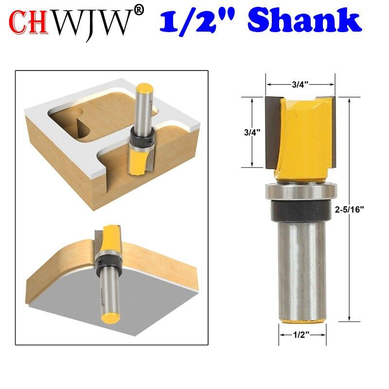 """1vnt modelio apdailos šablono apdailos frezavimo antgalis - 3/4 """"X 3/4"""" - 1/2 """"kotelio medienos pjovimo staklės pjovimo staklės medienos apdirbimo įrankiams"""
