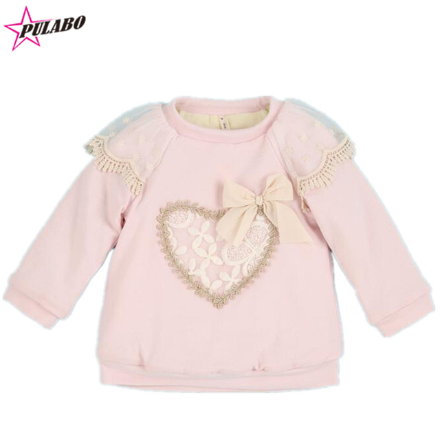 9fc90ffd0 2018 Winter spring Kids Thick lace lovely heart Sweater Baby Girls ...