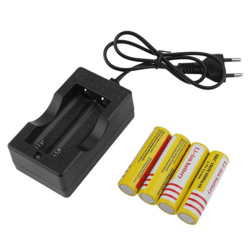 Panasonic Rechargeable 18650 3400mah Li Ion Batteries Yellowish 2400mah Liion W Protection Circuit 4 Pcs Battery And Charger 37v Replacement Torch Flashlight Camera Eu Plug