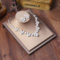 Fashion Necklaces Earrings Set Rhinestone Pearl Wedding Bridal Jewelry Sets Party Jewellery For Women