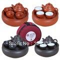 Бесплатная доставка Фиолетовый дорожный чайный набор портативный чайный набор кунг-фу чайный сервиз автомобильные принадлежности