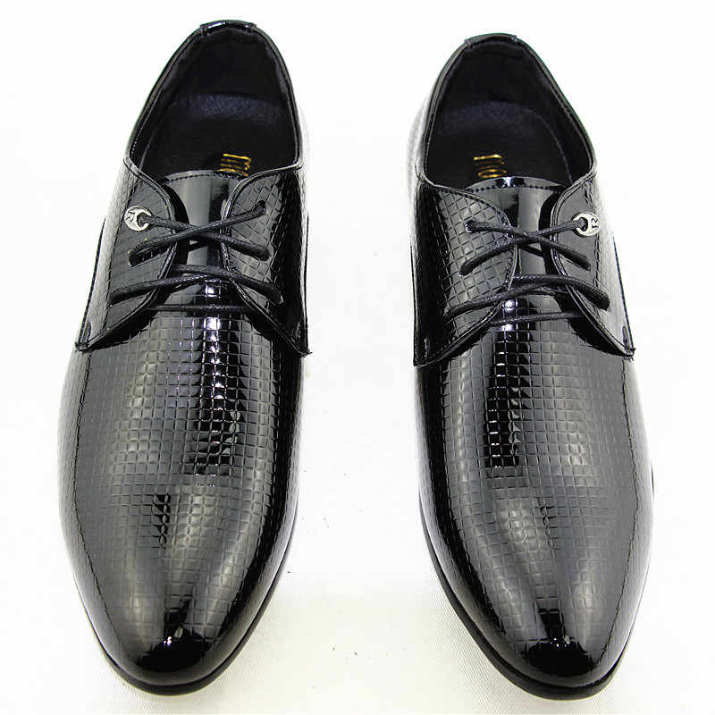 638a2c64678 ... Movechain Men s Office Dress Shoes Pointed Toe Wedding Casual Shoes  Oxfords Suit Shoes Man Flats Leather ...