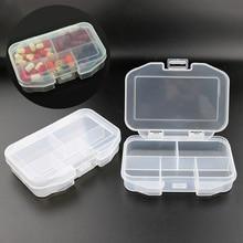 1 Pcs Portable Seal Storage Box For 5 Grid Jewelry Storage Health Box Small Pill Box Household Small Items Storage