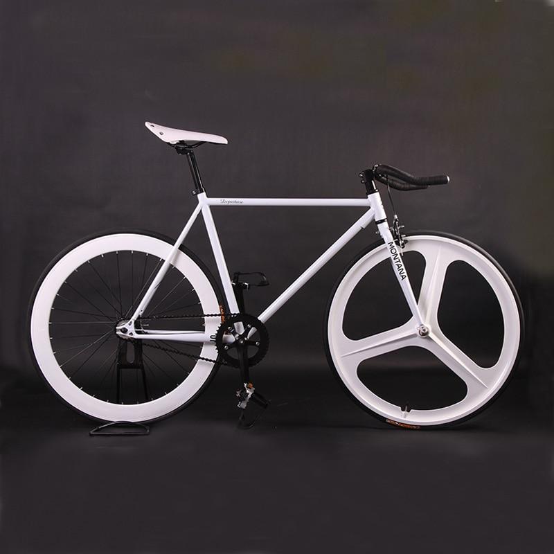 Fixie Bike Bicycle Diy 700c Retro Steel Frame Fixed Gear