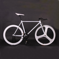 Fixie Bike Bicycle DIY 700C Retro Steel Frame Fixed Gear Bike Vintage Steel Frame Fixie track Bike
