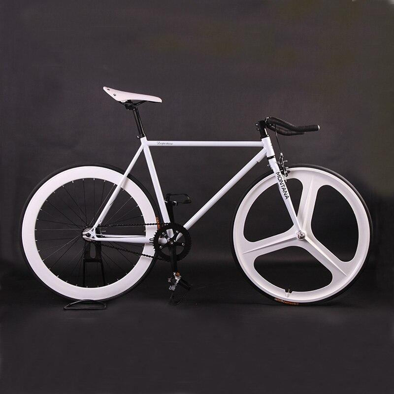 Fixie Vélo Vélo BRICOLAGE 700C Rétro Cadre En Acier Pignon Fixe Vélo Vintage En Acier Cadre Fixie Vélo De piste