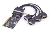 PCI to 4 Port RS232 Serial Card DB9 COM Adapter MCS9865 Chipset w/ Fan Out Cable