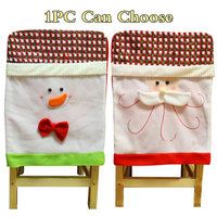 1PC Santa Claus Snowman Chair Covers Hats Christmas Decorations Xmas Dinner Party Seat Caps Supplies For