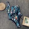 Sexy Bikiny 2019 Swimsuit Women Snake Print Bikini Push Up One Shoulder Bikini Swimsuit With High Waist Swimming Wear For Ladies