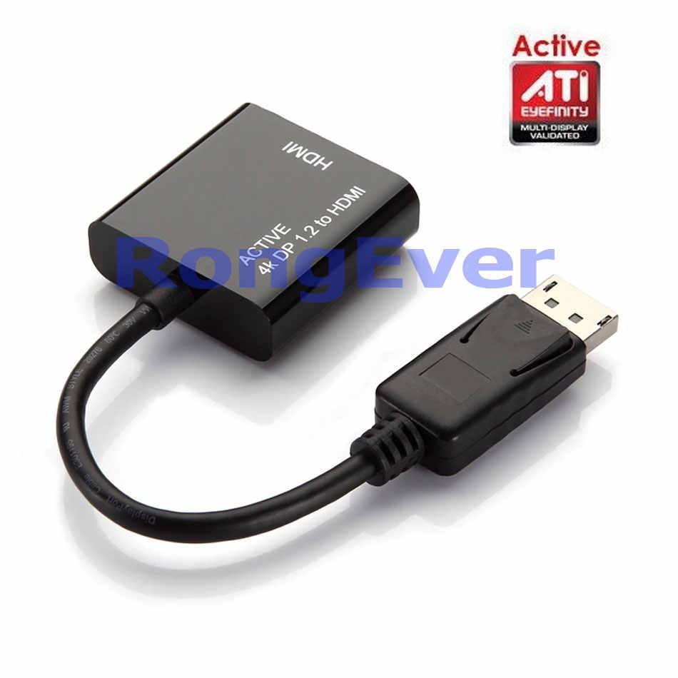 جديد نشط ATI Eyefinity HD 4 K DisplayPort 1.2 موانئ دبي الذكور إلى HDMI الإناث الفيديو الصوت HDTV الأسود محول تحويل رصد متعددة
