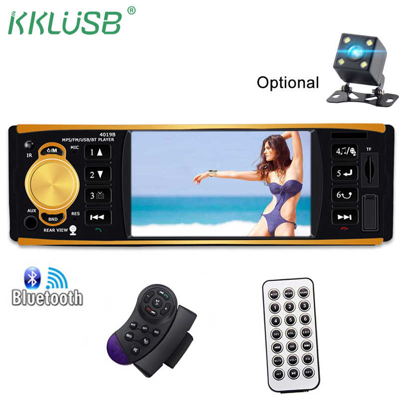 detail feedback questions about autoradio 4019b 1 din car radio autoautoradio 4019b 1 din car radio auto audio stereo fm bluetooth rear view camera usb aux