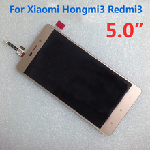 100% Tested Work Redmi 3 LCD Display Touch Screen Digitizer Assembly For Xiaomi Hongmi 3 Red Rice3 Redme 3 Mobile Replacement