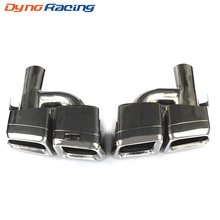 Racing 1 Pair Modified Car Exhaust Tail Pipe Muffler Tips Stainless Steel tail throat Pipe For Mercedes Benz E-Class A*G W212
