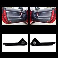 2pcs Fabric Door Protection Mats Anti kick Decorative Pads For Toyota 86