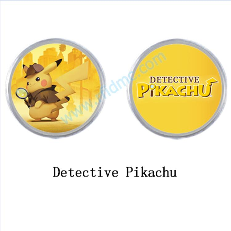 NFC Amiibo Coin NTAG215 Printed NFC Card Written By Tagmo For Switch Detective Pikachu