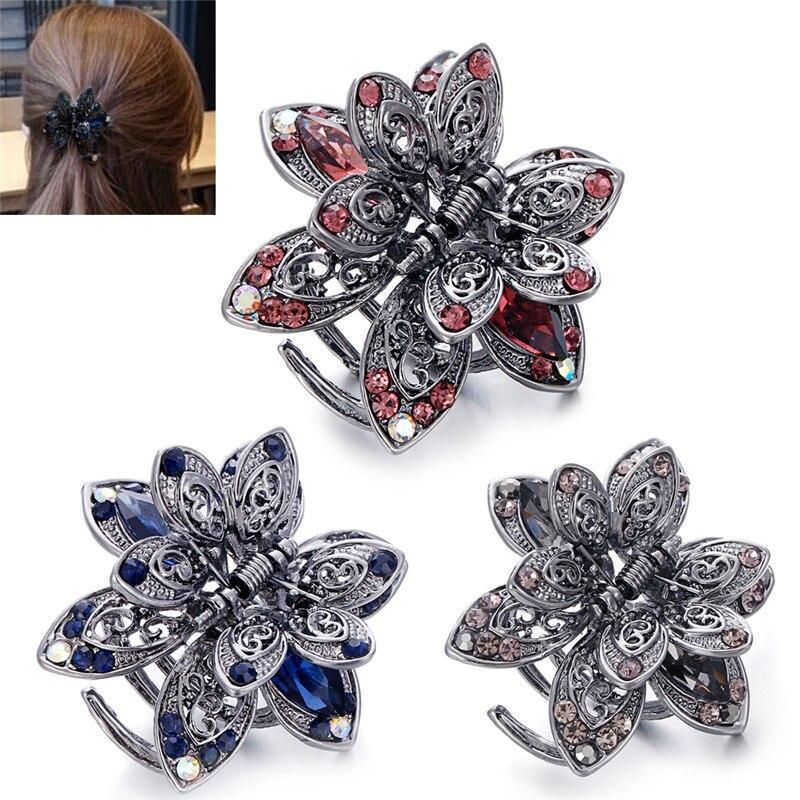 1pc Crystal Hair Clip Claw Women Rhinestone Hairpin Clamp Wedding Hair Accessories