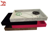 Retail High Quality Velvet Jewelry Display Cases Four Colors Necklace Bangle Bracelet Storage Organizer Flat Tray