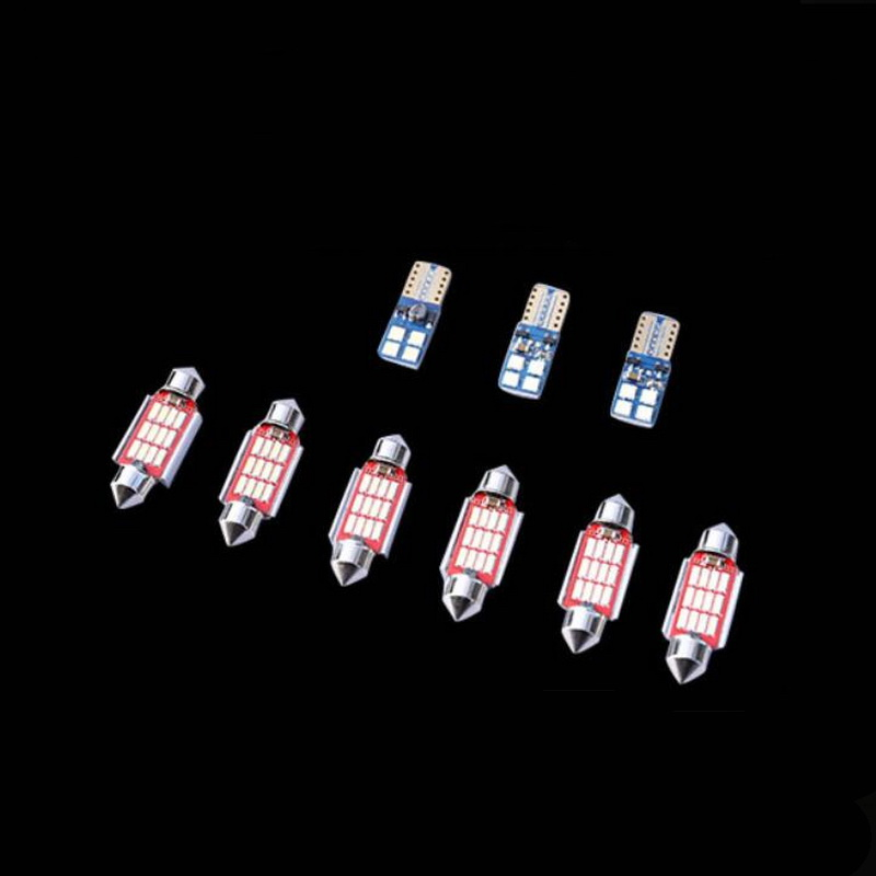 Tonlinker Cover Stickers for SKODA KODIAQ 2017 18 Car Styling 2 7 PCS White Blue LED Car Interior Lights Decorative Lamp in Decorative Lamp from Automobiles Motorcycles
