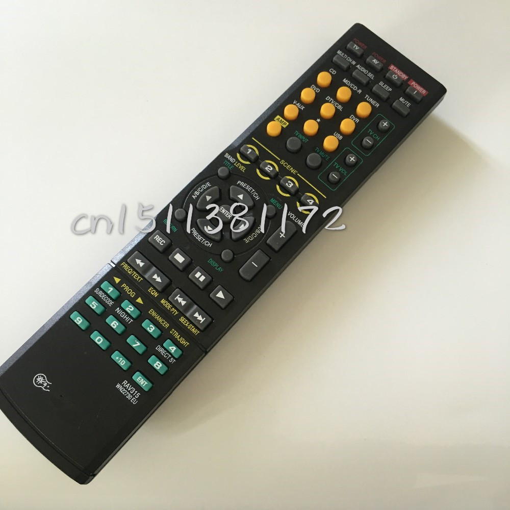 Replace Universal Remote Control RAV315 For Yamaha Audio Power Amplifier YHT380 WJ409300 HTR-6040/6050 WN22730 RX-V461 RXV561 universal remote control suitable for yamaha rav22 wg70720 home theater amplifier cd dvd rx v350 rx v357 rx v359 htr5830
