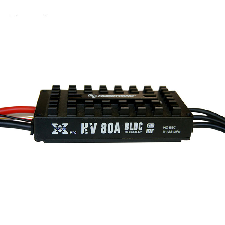 Drone parts The New Series Hot sale Original Hobbywing Xrotor PRO HV Brushless ESC 12S 80A Waterproof Brushless ESC Thole