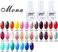 Mona Nail Gels COL#A16805097~108;133~144;061~067,Nail Art Soak Off UV&LED Gel Polish Georgous Colors Long Lasting Up To 30 Days
