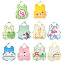 Long Sleeve Waterproof Baby Bibs Infant Burp Cloths  Toddler Scarf Feeding Smock Coverall Baby Animals Baby Feeding Accessories