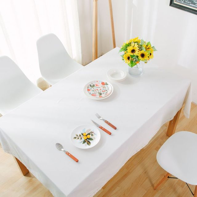 Applicable Tea Table Solid Color Tablecloth Dining Table Rectangle  Tablecloth Linen Tablecloth Banquet Table Cloth