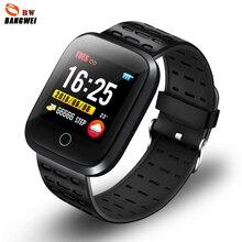 LIGE 2019 New Sport Smart Bracelet Women IP68 Waterproof Watch Fitness Tracker Heart Rate Sphygmomanometer For Android IOS +Box
