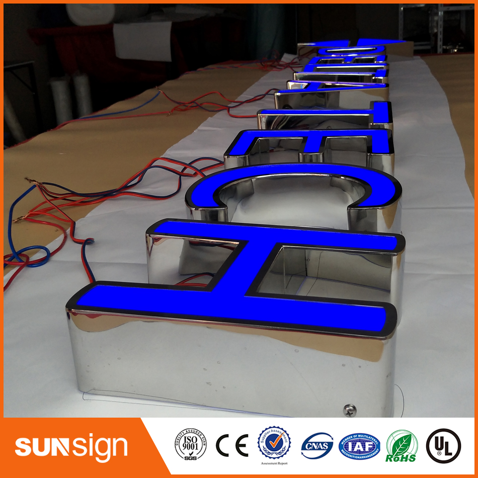 Stainless Steel Channel Letters Customized Frontlit Letters
