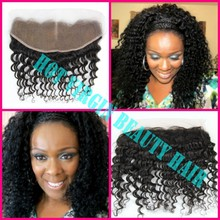 Free shipping Virgin Brazilian Lace Frontal 13×4 Bleached Knots Virgin Frontal Piece Deep Curl Full Lace Frontal Brazilian Curly