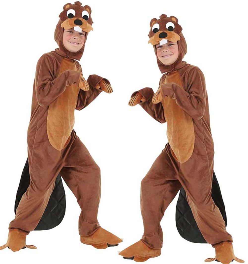 Cosplay Halloween Carnival purim costume kids/adult animal parent-child otter costume fancy dress game play costume Jumpsuits