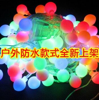 Led lights 30 meters flasher lamp set ball lighting string outdoor waterproof garden lamp christmas decoration spherule
