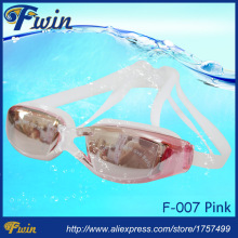 2015 Hot selling anti fog UV400 protected mirrored coating swim goggles adjustable silicon font b swimming