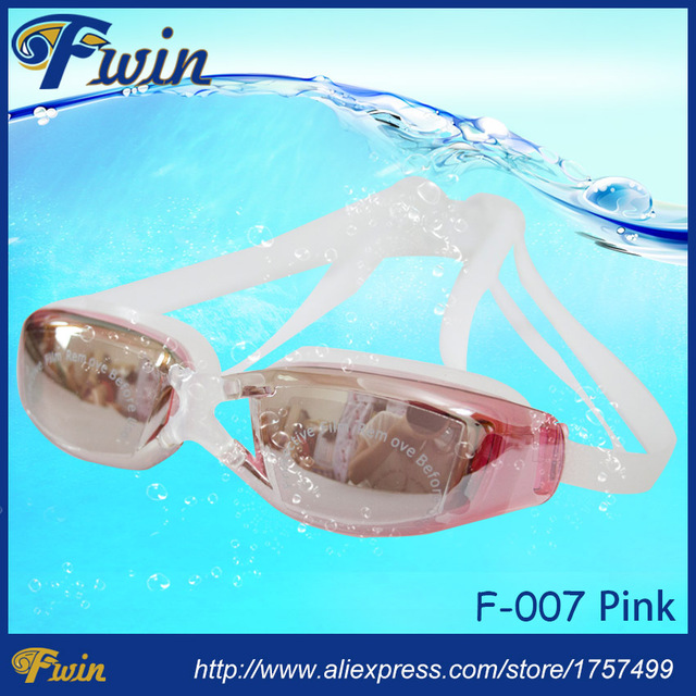 US $18 99 |2015 Hot selling anti fog UV400 protected mirrored coating swim  goggles adjustable silicon swimming glasses-in Swimming Eyewear from Sports