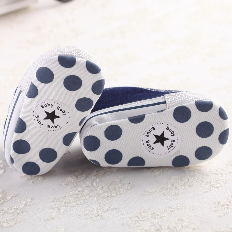 Blue Newborn Baby Soft Bottom Anti-slip Prewalker Shoes