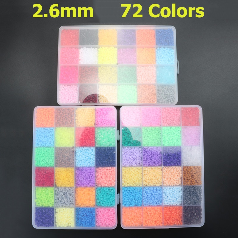 2.6mm Hama Beads Set Toy DIY Perler Hama Beads Building Kits Educational Toys For Children Gift artkal mini beads 36 color box set funny food grade eva educational toys diy hama beads handmade gift cc36 page 2