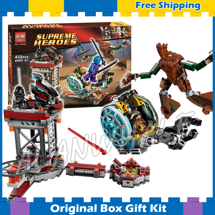 432pcs Bela 10249 Guardians of the Galaxy Knowhere Escape Mission Assemble Building bricks Toys Compatible With Lego