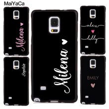 MaiYaCa PERSONALISED HANDWRITTEN NAMES CUSTOM WEDDING Phone Cases For Samsung S5 S6 S7 edge S8 S9 S10 plus Note 9 5 8 Cover