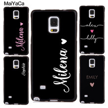 MaiYaCa PERSONALISED HANDWRITTEN NAMES CUSTOM WEDDING Phone Cases For Samsung S5 S6 S7 edge plus S8 S9 plus Note 4 5 8 Cover(China)