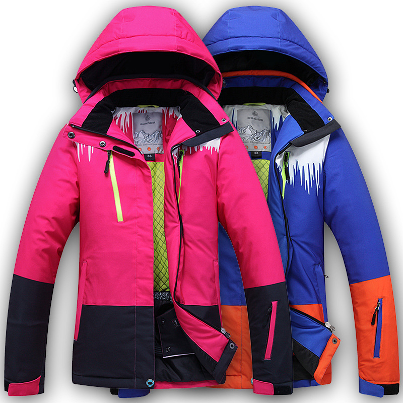 Women Ski Jacket Windproof Waterproof Snowboard Skiing Jacket Outdoor Sport Wear Super Warm Camping Riding Female professional ski jacket women windproof waterproof winter warm outdoor sport snow wear snowboard jacket camping outdoor brand