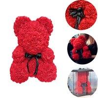 Украшения для свадебной вечеринки Роза медведь девушка Юбилей Рождество День Святого Валентина подарок на день рождения для детей