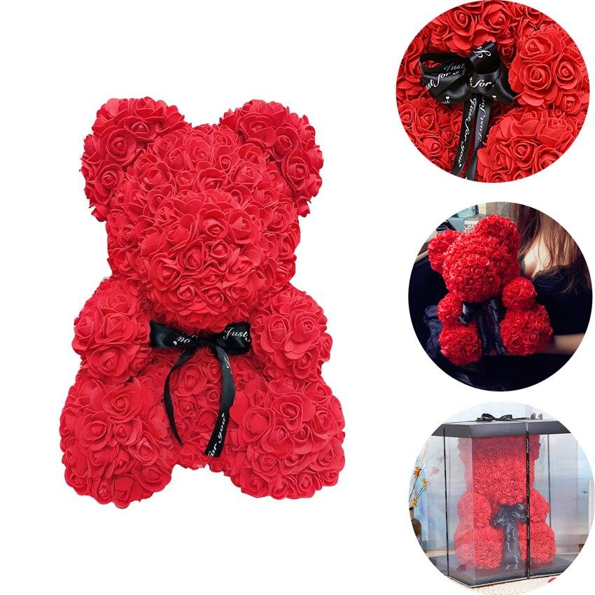 Decorações de festa de casamento rosa urso namorada aniversário natal dia dos namorados presente de aniversário para crianças