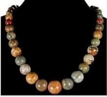 Women jewelry choker anime gem chocker maxi collier Stunning Natural 6-14mm Multicolor Picasso Jasper Beads Necklace