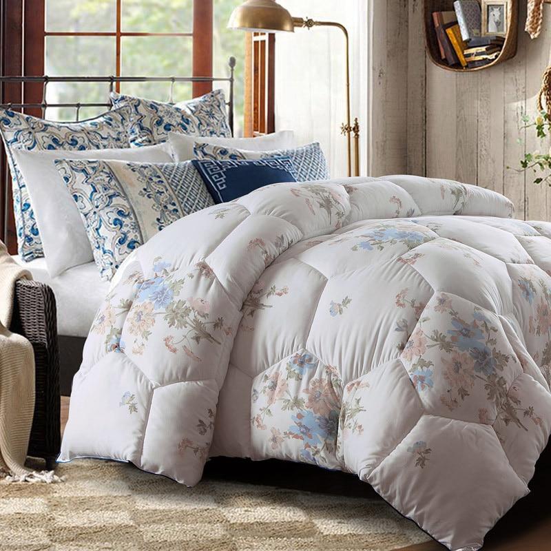 Winter Quilt Comforter Floral Design Twin Queen King Size
