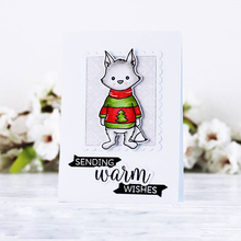 4x4in Wild Cute Fox Transparent Clear Silicone Stamp DIY Scrapbooking/Photo Album Card Make Handcraft Decorative Clear Stamp winter fox clear stamp set lawn fawn